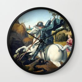 Raphael Saint George and the Dragon Wall Clock