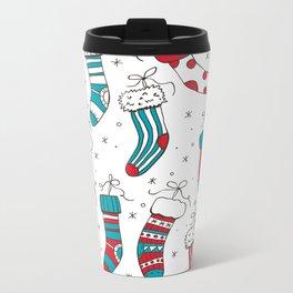Christmas socks Metal Travel Mug
