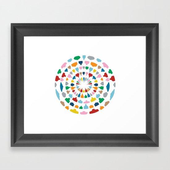 Wine o'Clock on White Framed Art Print