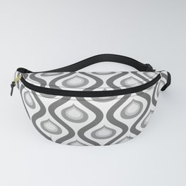Abstract Peacock - Vintage Geometric Pattern Fanny Pack