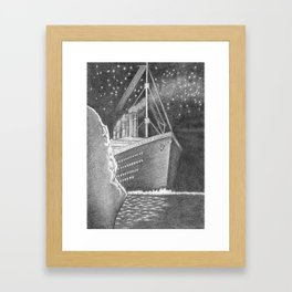 Illustration of a famous ship Framed Art Print