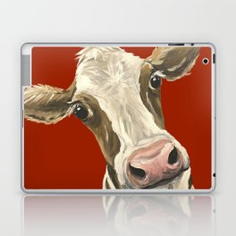 Cute Cow Painting, Red Cow Painting Laptop & iPad Skin