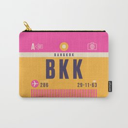 Retro Airline Luggage Tag - BKK Bangkok Thailand Carry-All Pouch
