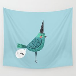 Birds With Attitude: Toot Wall Tapestry