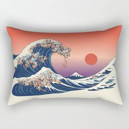 The Great Wave of Dachshunds Rectangular Pillow
