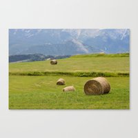 montana Canvas Prints featuring Montana by Claudia Turner