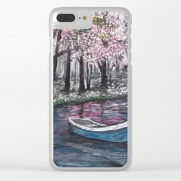 Drift Away -finished Clear iPhone Case