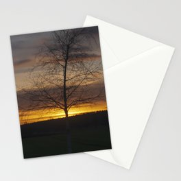Sunset at the end of town Stationery Cards