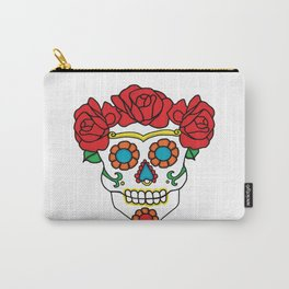 Rose Calavera Carry-All Pouch