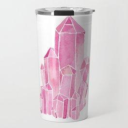 Rose Quartz Watercolor Travel Mug