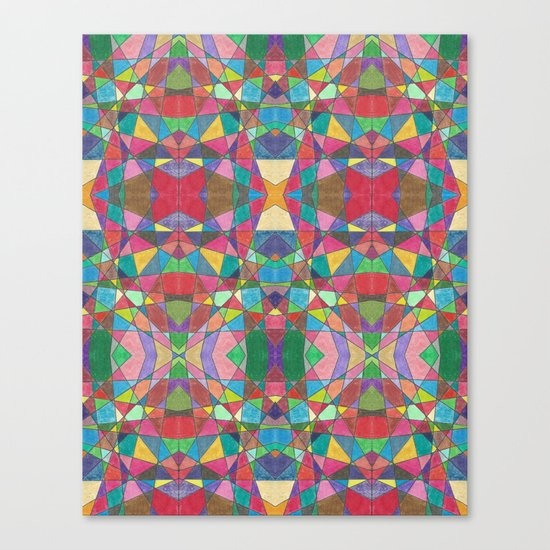 Criss Cross Colorful Canvas Print