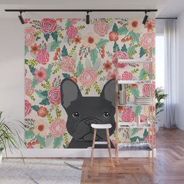 French Bulldog floral dog head cute pet gifts dog breed frenchies Wall Mural