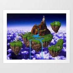Floating Kingdom of ZEAL - Chrono Trigger Art Print