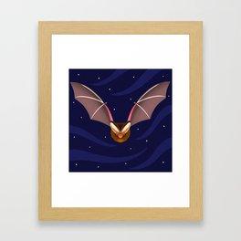 Barbastelle Bat Framed Art Print