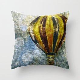 The Golden Balloon Throw Pillow