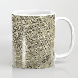 Vintage Pictorial Map of Allentown Pennsylvania (1901) Coffee Mug