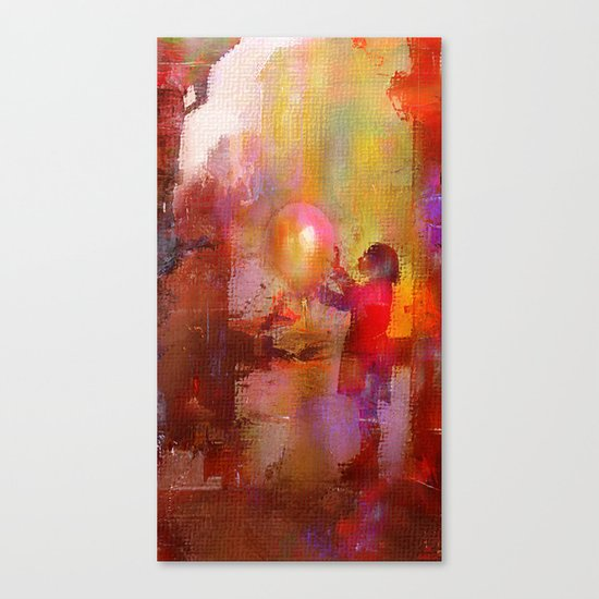 The girl with the baloon Canvas Print