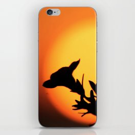 Flower Silhouettes iPhone Skin