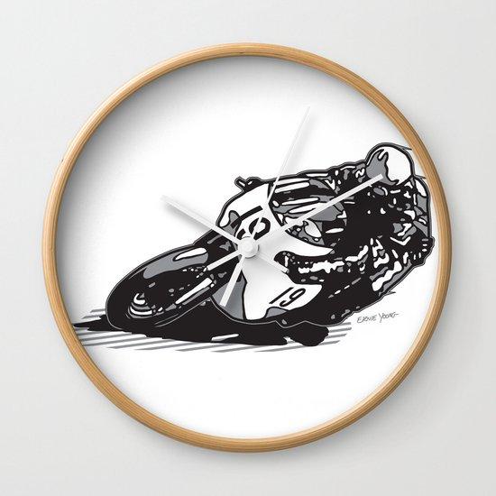 RACER 19 Wall Clock