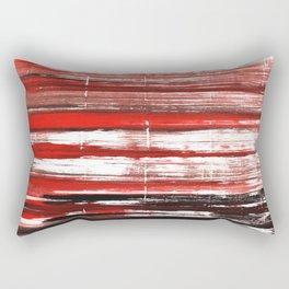 Red-black abstract Rectangular Pillow