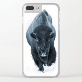 Walking With Bison Clear iPhone Case