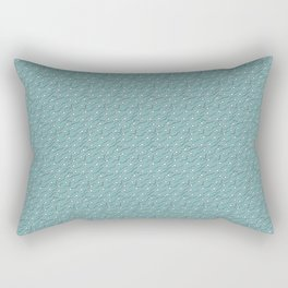 The great Sperm migration on teal Rectangular Pillow