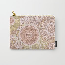 Rosey Gold Mandalas Carry-All Pouch