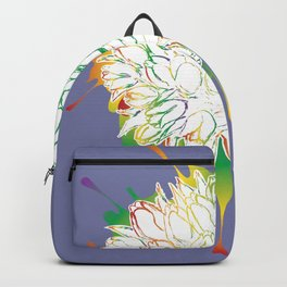 Grunge bouquet of tulips Backpack
