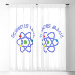 Science is magic Blackout Curtain