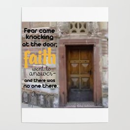 FEAR CAME KNOCKING; FAITH ANSWERED Poster