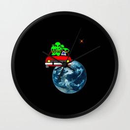 Ride to Mars selfie Wall Clock