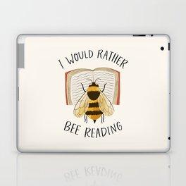 Happy Bee Reading a Book Laptop & iPad Skin