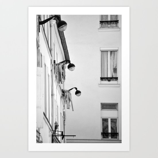 Paris, architecture and day to day life Art Print