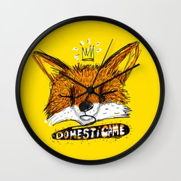 Domestícame: fox Wall Clock