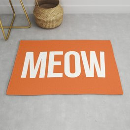 Meow Funny Quote Rug