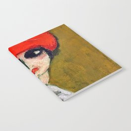 The Corn Poppy, Portrait of a Young Woman by Kees van Dongen Notebook