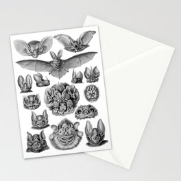 Ernst Haeckel Bats Stationery Cards