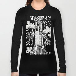 Modern Tarot Design - 16 The Tower Long Sleeve T-shirt