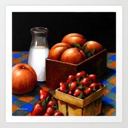 Milk & Fruit Art Print