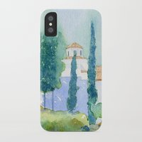 greek iPhone & iPod Cases featuring Greek monastery by Carl Conway