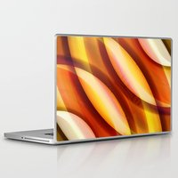 orange pattern Laptop & iPad Skins featuring Pattern orange by Christine baessler