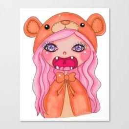 kawaii bear doll Canvas Print