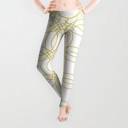 Simply Vintage Link Mod Yellow on White Leggings