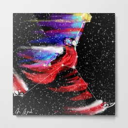 Jumpman Constellation Metal Print