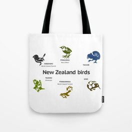 New Zealand Birds Tote Bag