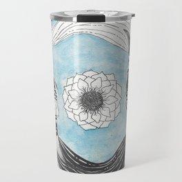 Ying and Yang Coi With Lotus Travel Mug