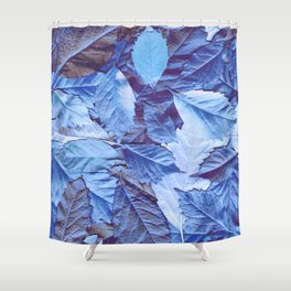 The blue carpet Shower Curtain