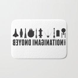 Beyond imagination: Battlestar Galactica postage stamp  Bath Mat