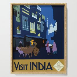 Vintage Travel poster - India Serving Tray
