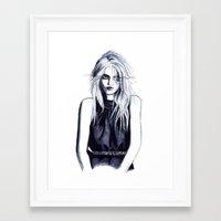 sky ferreira Framed Art Prints featuring Sky Ferreira  by Asquared2Art